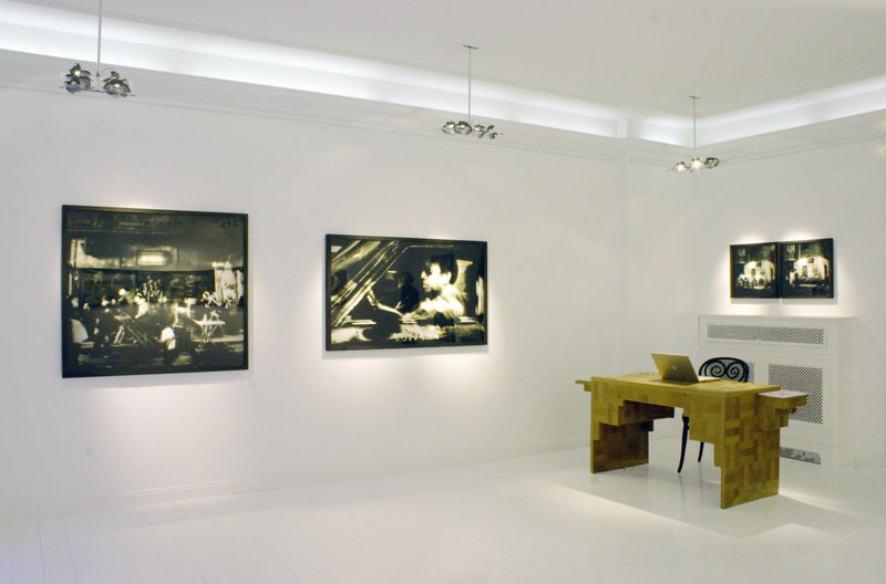 Installation view at gallery Anna Augstein 2007